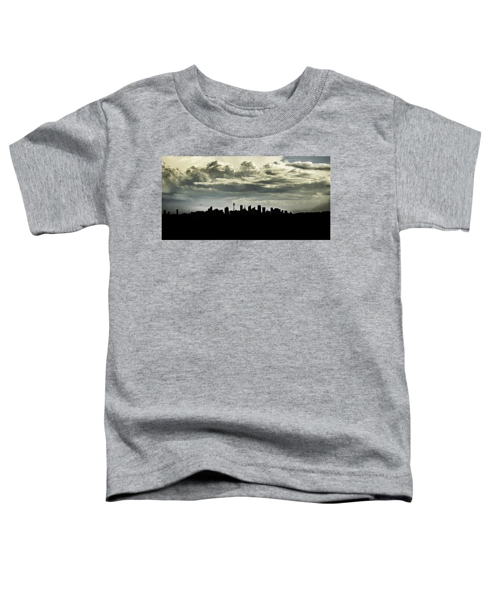 Landscape Toddler T-Shirt featuring the photograph Silhouette Of Sydney by Chris Cousins