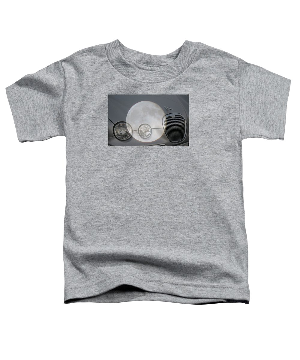 Car Toddler T-Shirt featuring the photograph Silver Moon Jaguar by J R  Seymour