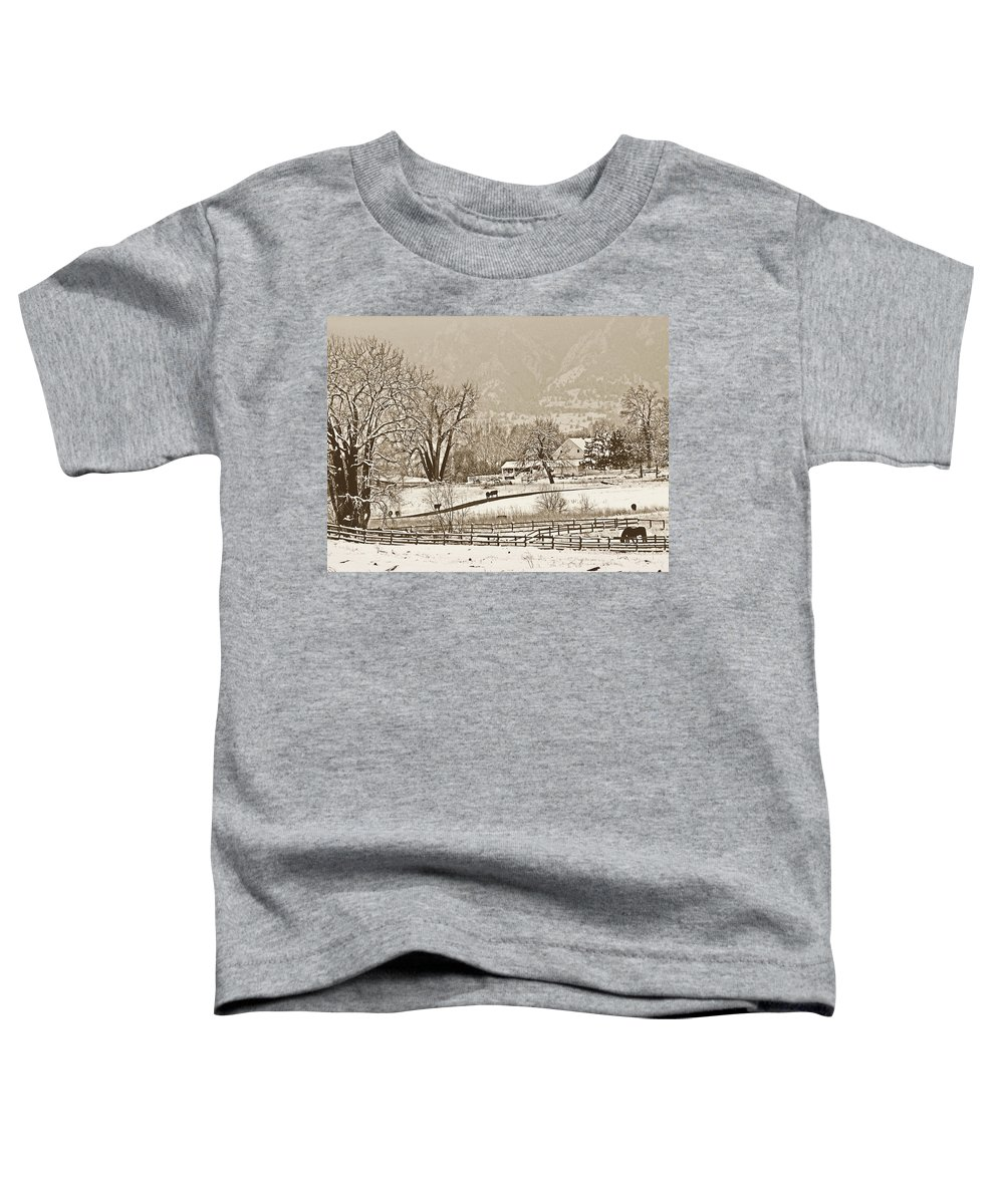Landscape Toddler T-Shirt featuring the photograph Simpler Times by Marilyn Hunt