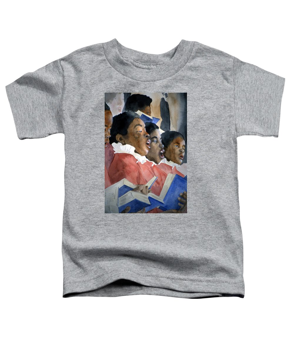 Choir Toddler T-Shirt featuring the painting Sing Out Your Joy by Jean Blackmer
