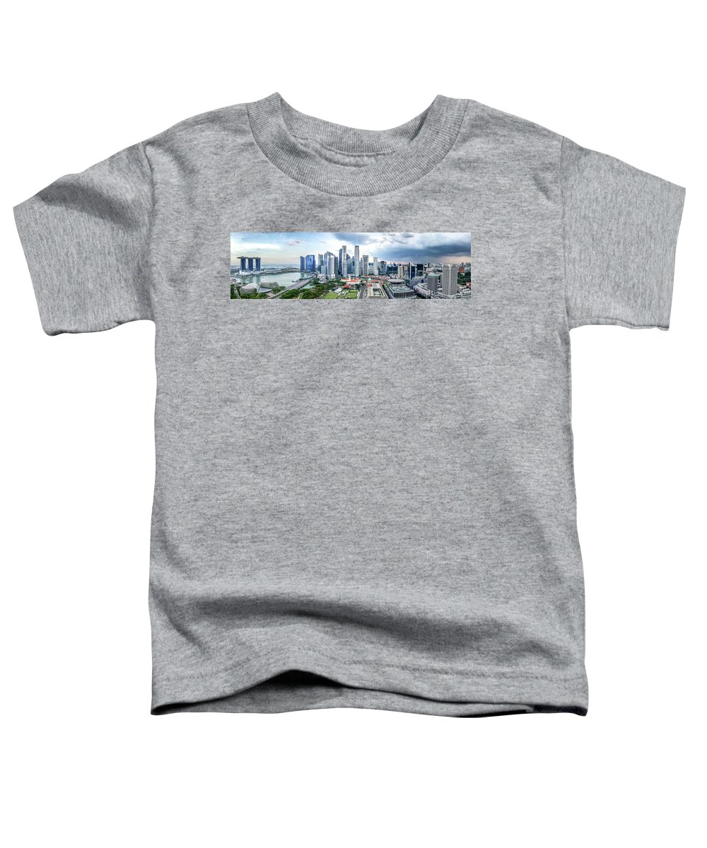 Singapore Toddler T-Shirt featuring the photograph Singapore Cityscape by Chris Cousins
