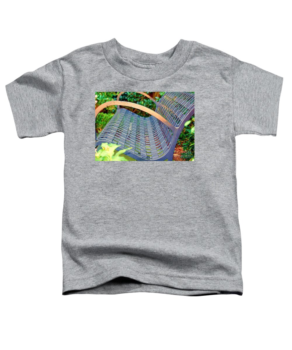 Bench Toddler T-Shirt featuring the photograph Sitting On A Park Bench by Debbi Granruth