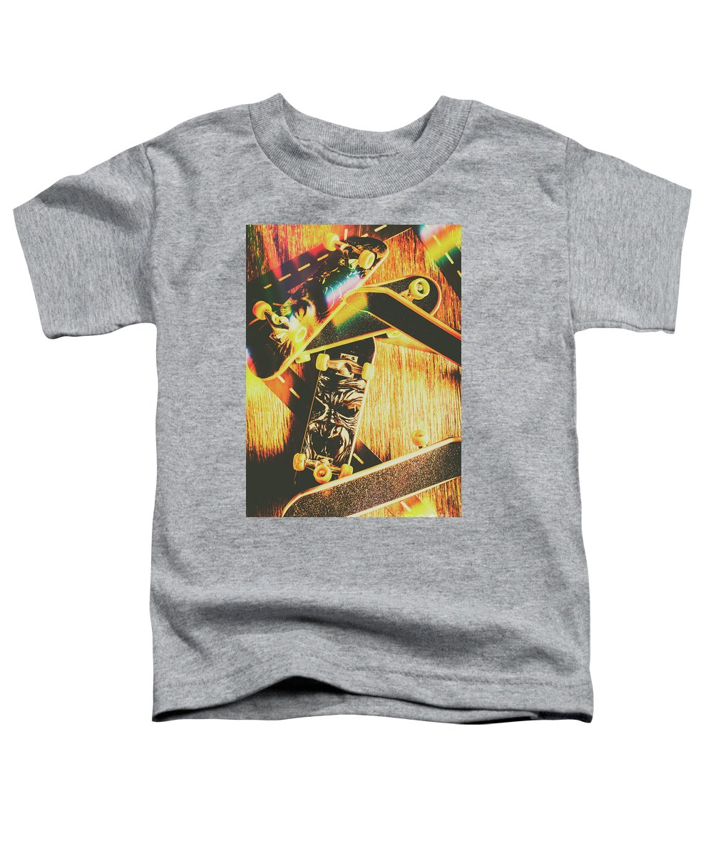 Skateboard Toddler T-Shirt featuring the photograph Skateboarding Tricks And Flips by Jorgo Photography - Wall Art Gallery