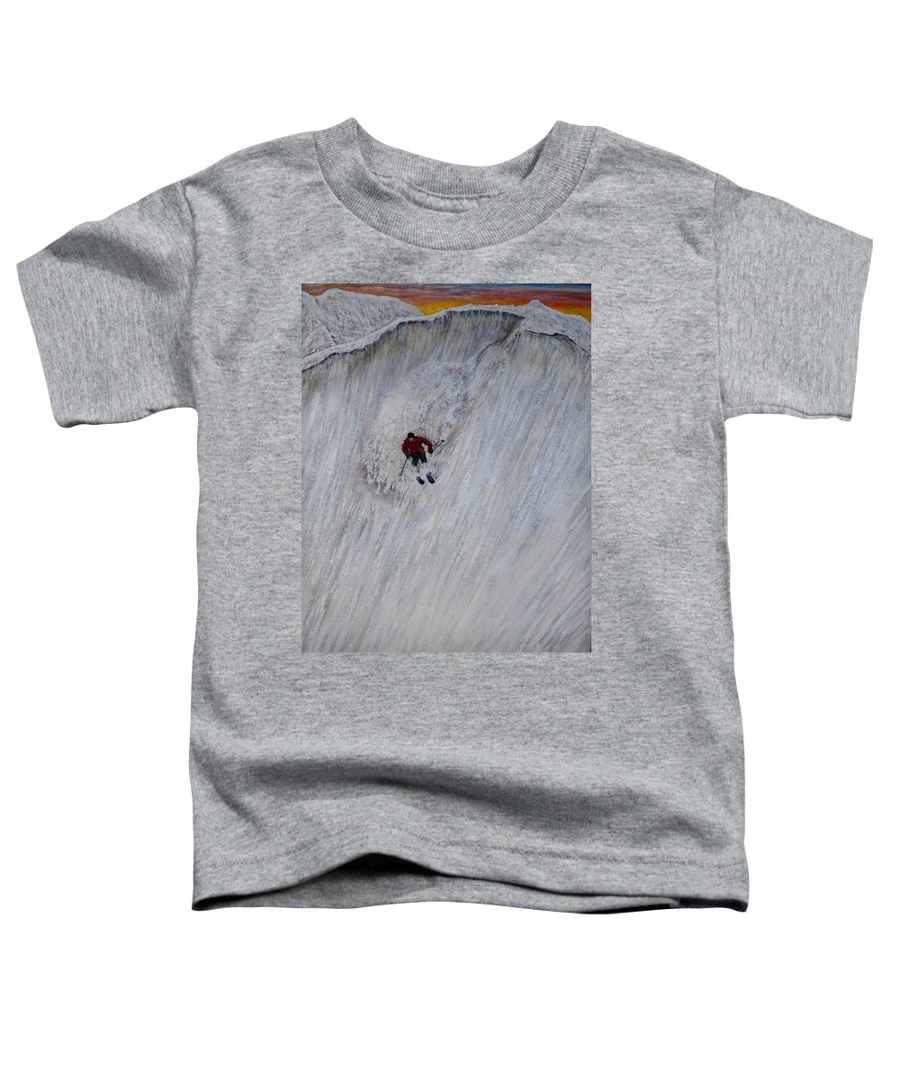 Landscape Toddler T-Shirt featuring the painting Skitilthend by Michael Cuozzo