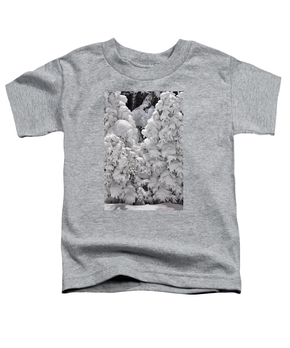Snow Toddler T-Shirt featuring the photograph Snow Coat by Alex Grichenko