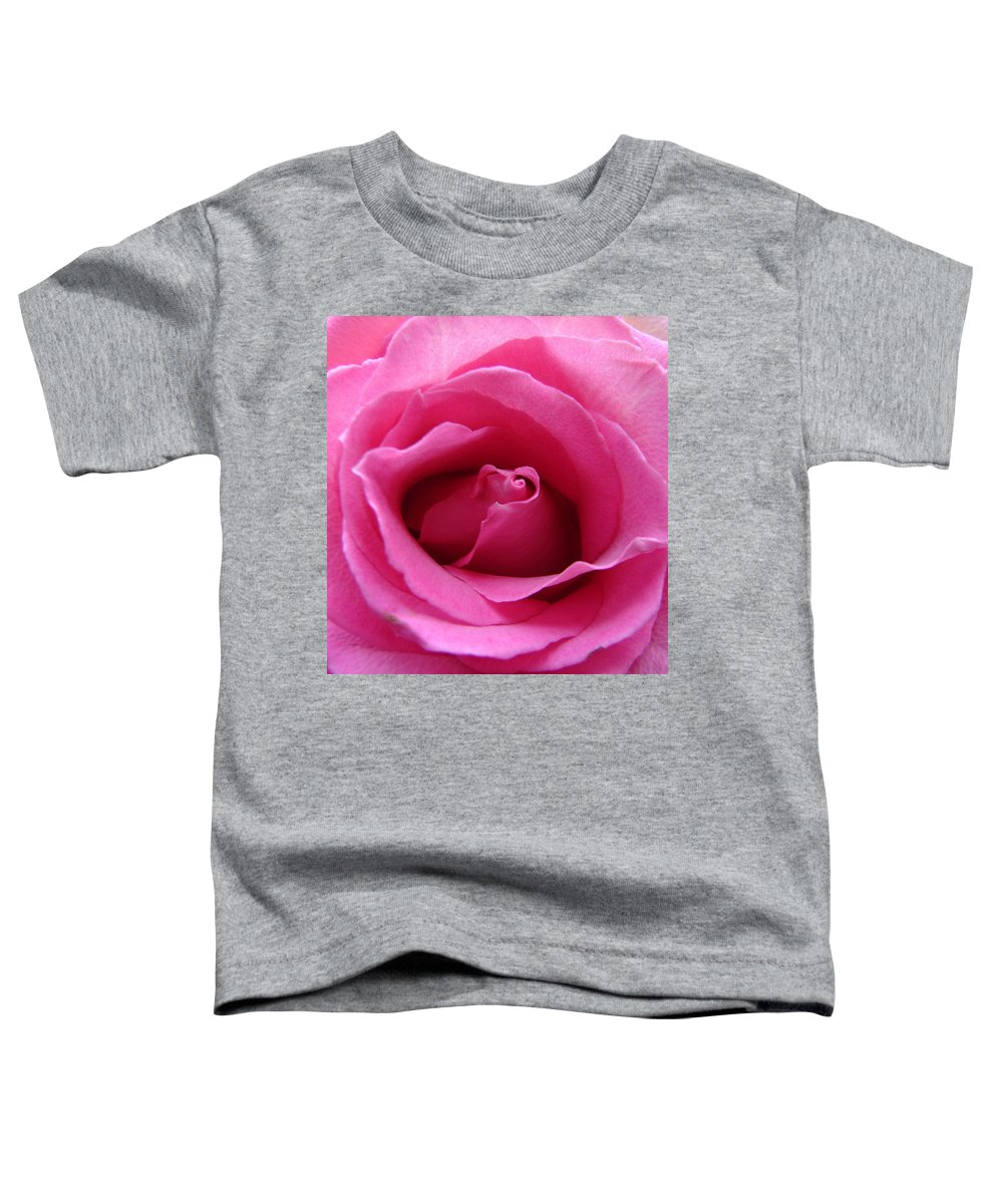 Rose Pink Pedals Toddler T-Shirt featuring the photograph Soft And Pink by Luciana Seymour