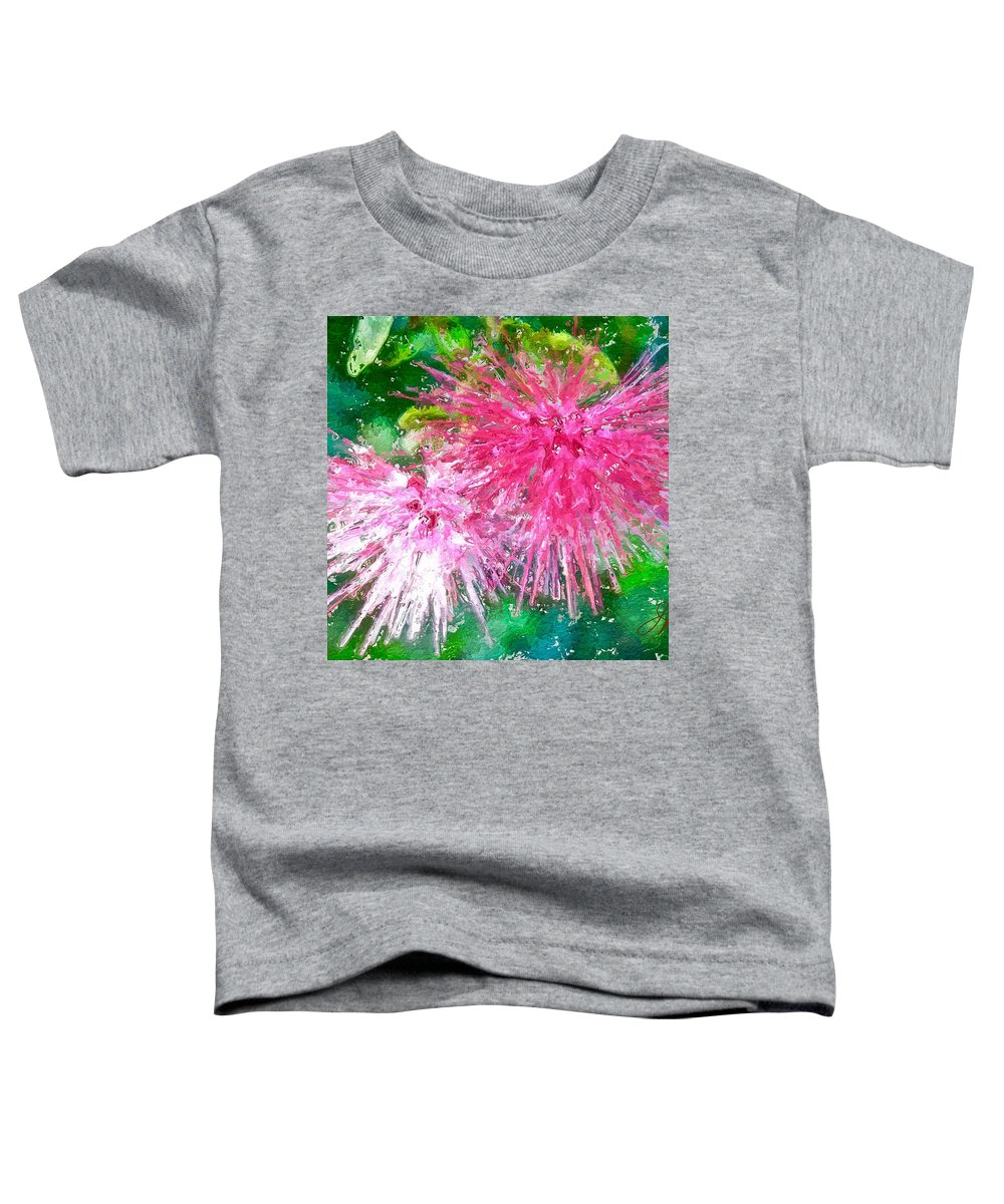 Pink Flower Toddler T-Shirt featuring the painting Soft Pink Flower by Joan Reese
