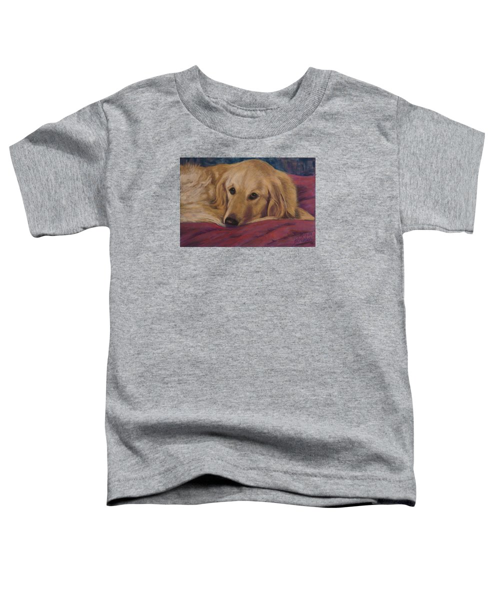 Dogs Toddler T-Shirt featuring the painting Soulfull Eyes by Billie Colson
