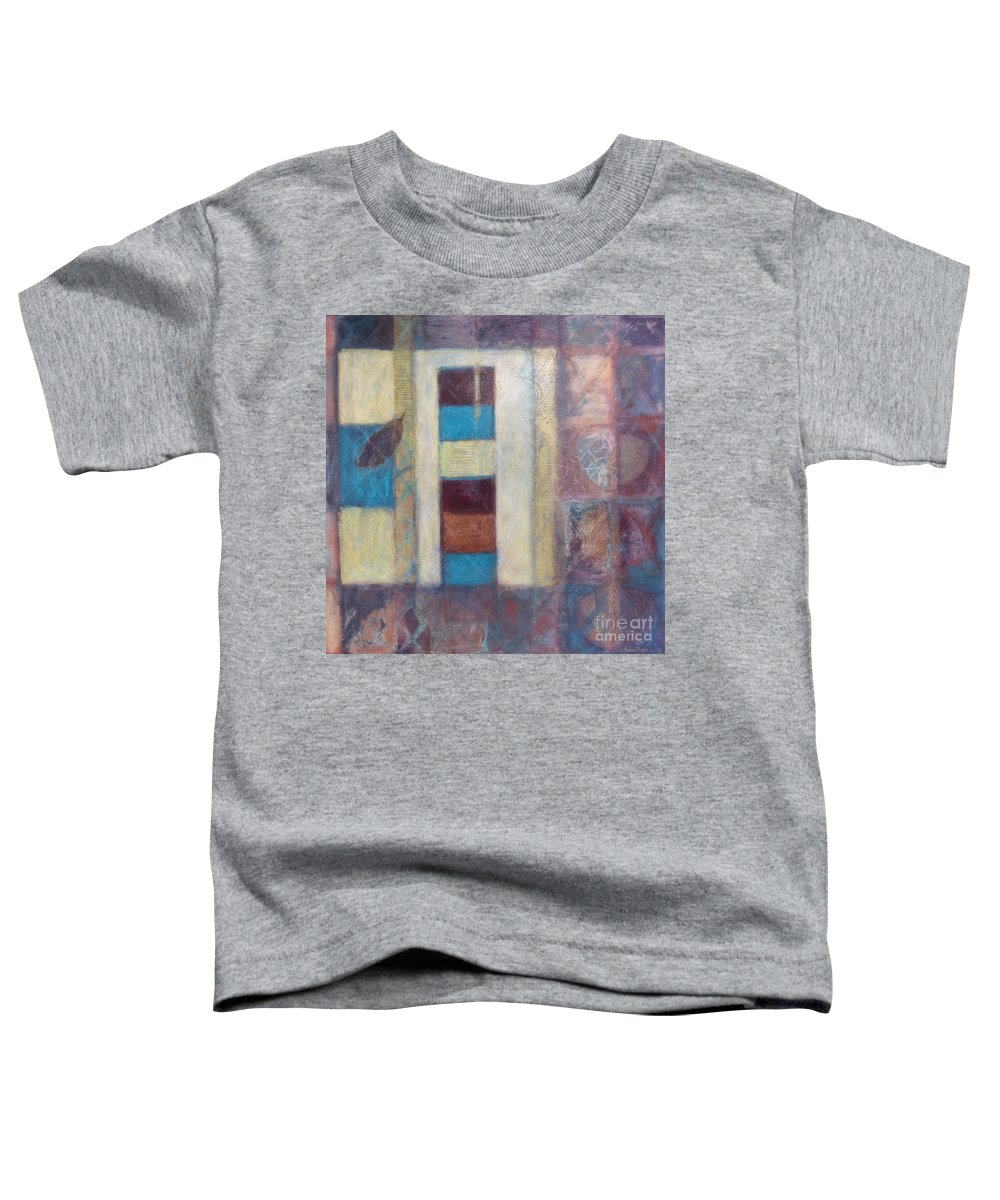 Spiritual Toddler T-Shirt featuring the painting Spirit Of Gold - States Of Being by Kerryn Madsen- Pietsch