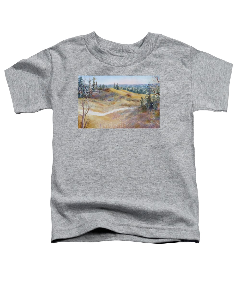 Landscape Toddler T-Shirt featuring the painting Spirit Sands by Ruth Kamenev