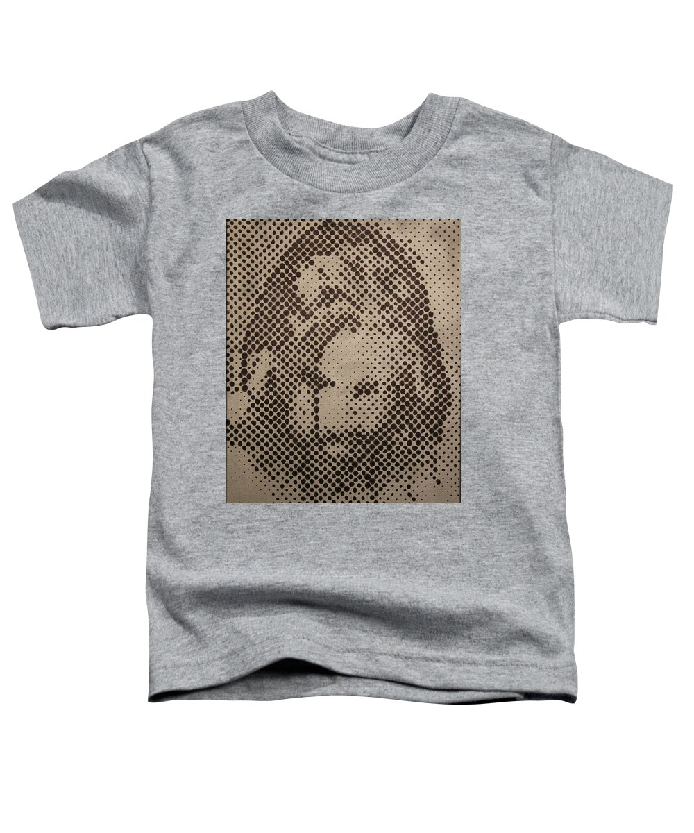 Biblepaintings God Jesus Christ Christian Christianity Bible Gallery Fine Art Steven Louis Doucette Toddler T-Shirt featuring the painting Spotless by Steven Louis Doucette