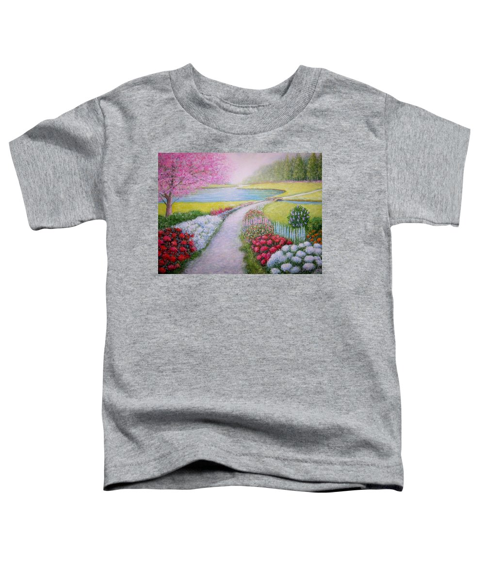 Landscape Toddler T-Shirt featuring the painting Spring by William H RaVell III