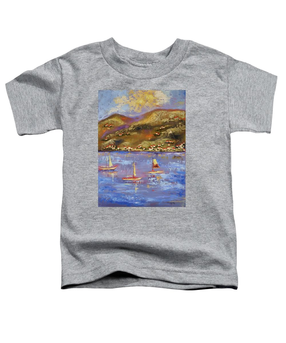 St. John Toddler T-Shirt featuring the painting St. John Usvi by Ginger Concepcion