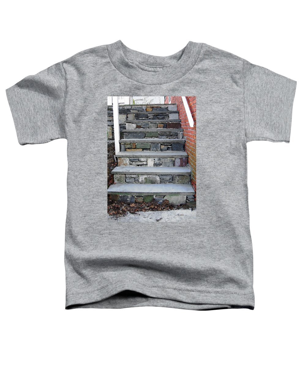 Stairs Toddler T-Shirt featuring the photograph Stairs To The Plague House by RC DeWinter