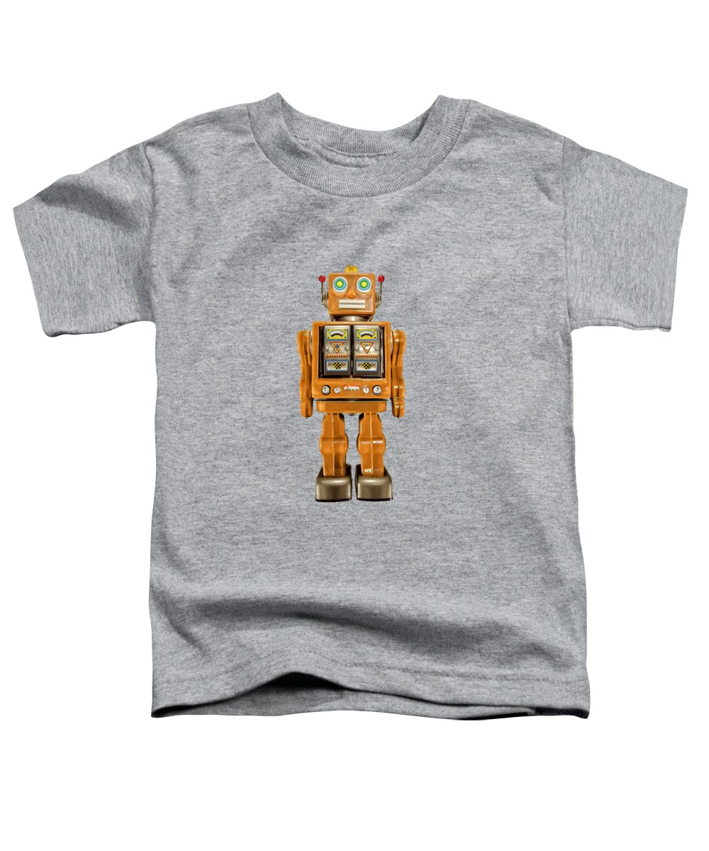 Classic Toddler T-Shirt featuring the photograph Star Strider Robot Orange by YoPedro