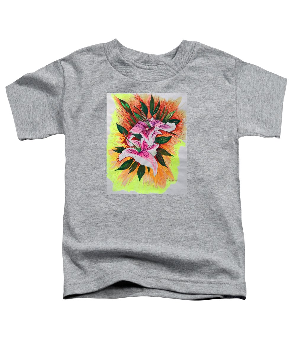 Flowers Toddler T-Shirt featuring the drawing Stargazers by J R Seymour