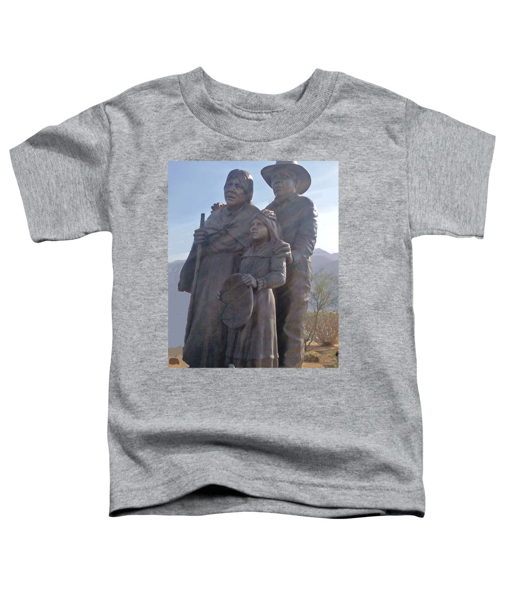 Man Toddler T-Shirt featuring the photograph Statuary Dedicated To The American Indian by Jay Milo
