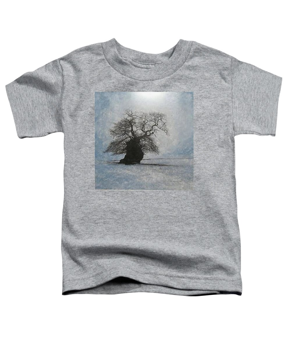Silhouette Toddler T-Shirt featuring the painting Stilton Silhouette by Leah Tomaino