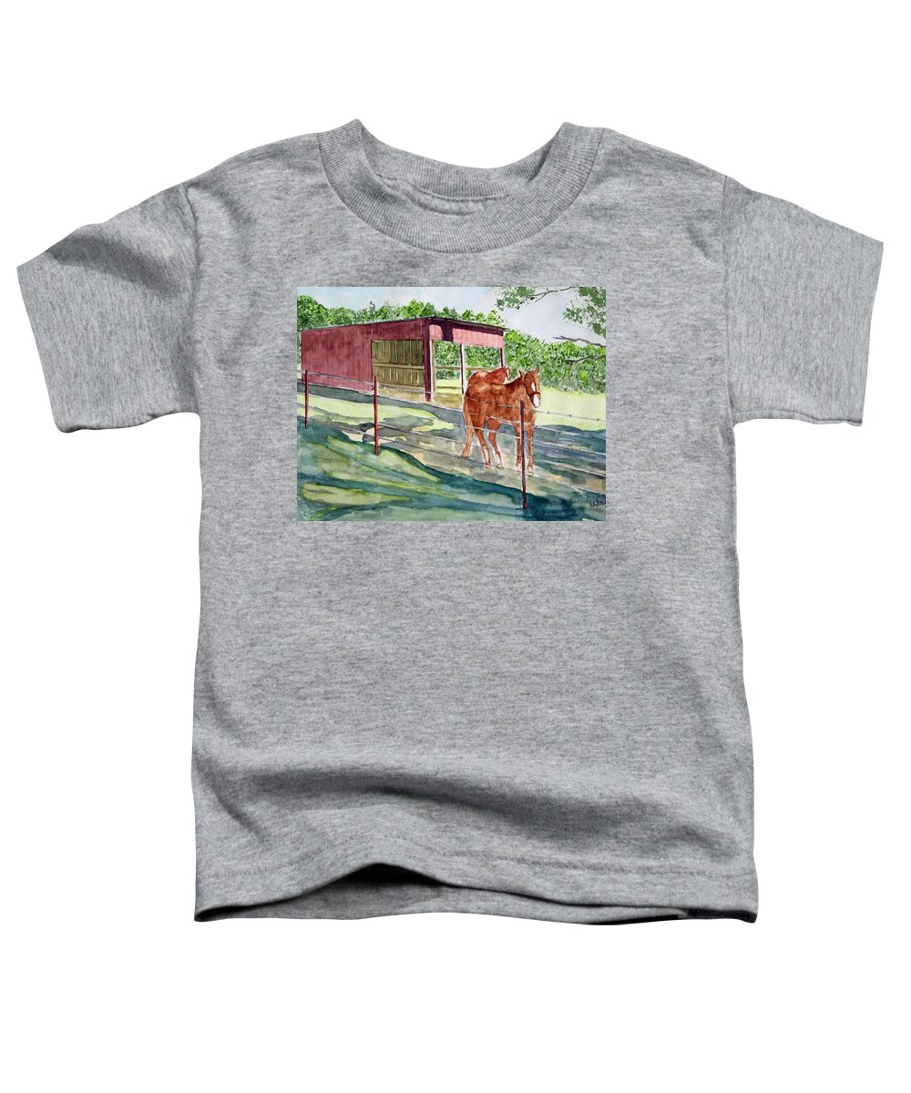 Horse Art Toddler T-Shirt featuring the painting Summer Shade by Larry Wright