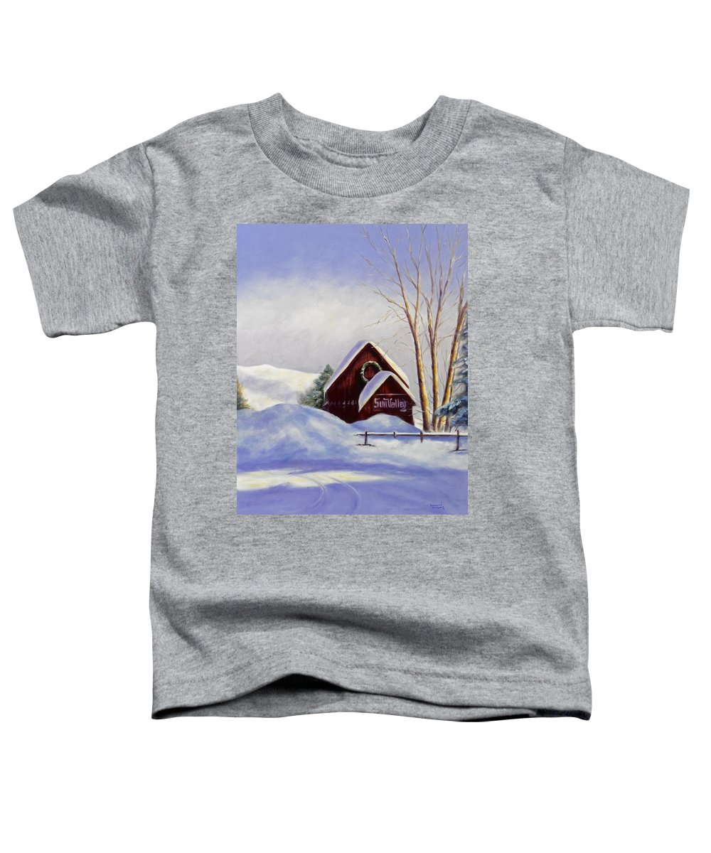 Landscape Toddler T-Shirt featuring the painting Sun Valley 2 by Shannon Grissom