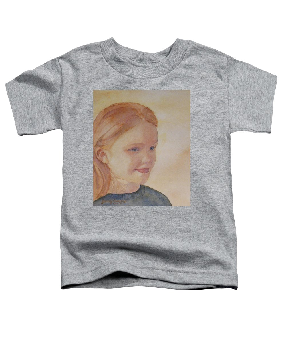 Girl Toddler T-Shirt featuring the painting Sunnie Birdie by Jenny Armitage