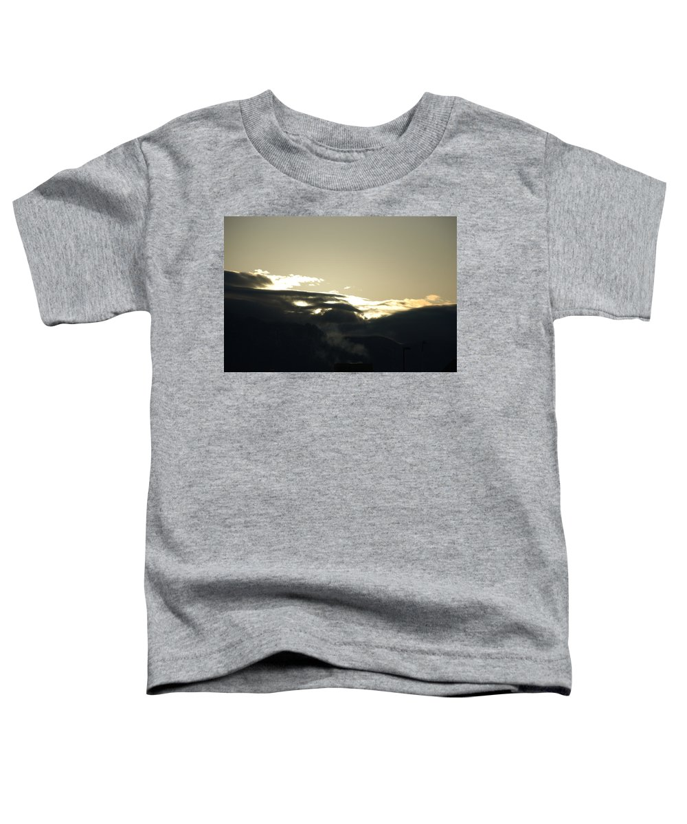 Sunrise Toddler T-Shirt featuring the photograph Sunrise Over The Sandias by Rob Hans