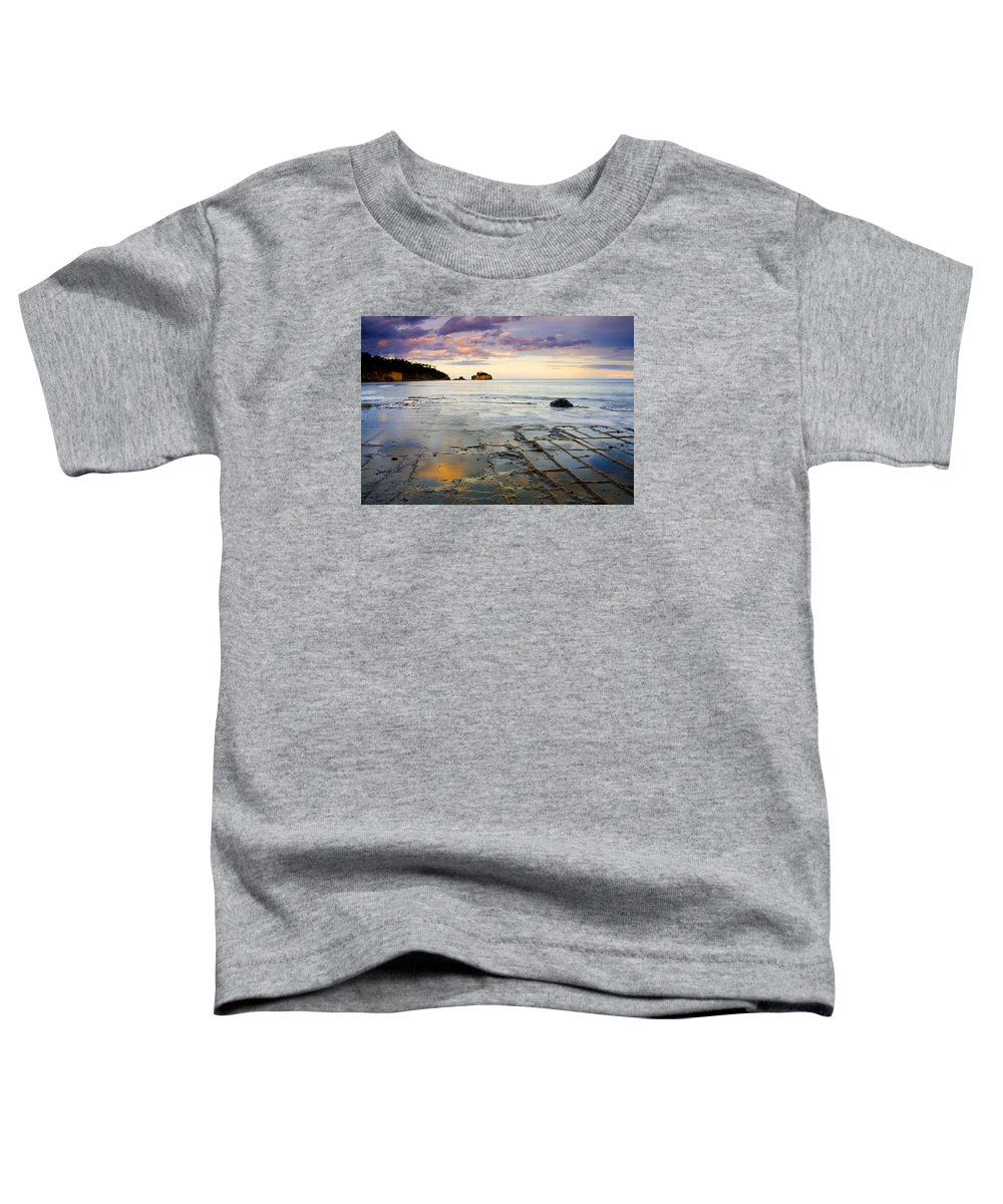 Tesselated Pavement Toddler T-Shirt featuring the photograph Sunset Grid by Mike Dawson