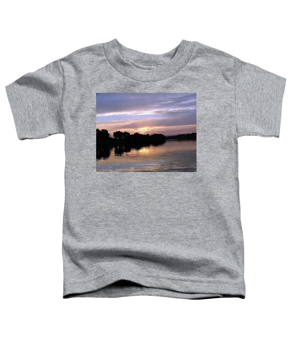 Snake River Toddler T-Shirt featuring the photograph Sunset On The Snake by Dawn Blair