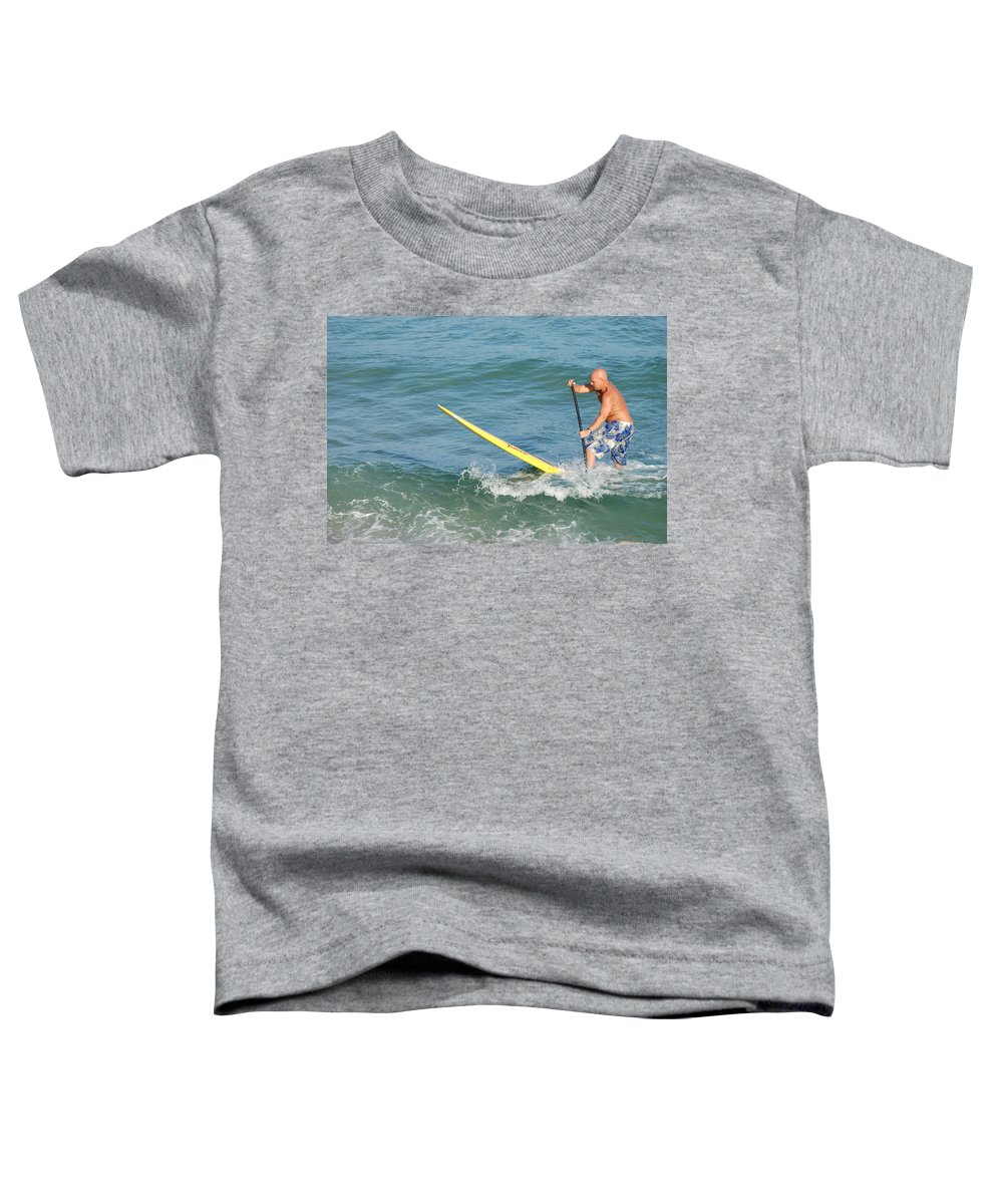 Sea Scape Toddler T-Shirt featuring the photograph Surfer Dude by Rob Hans