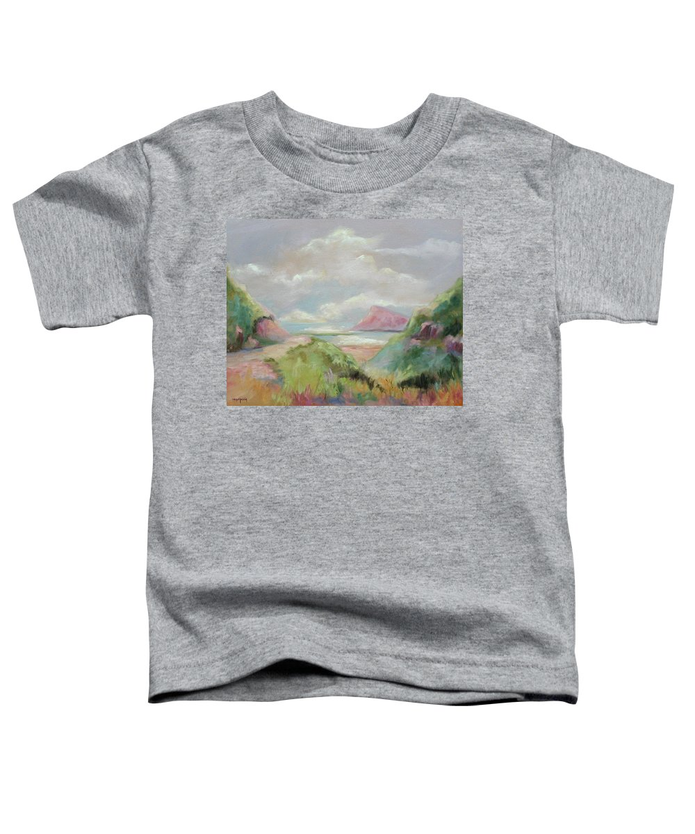 Seascape Toddler T-Shirt featuring the painting Taiwan Inlet by Ginger Concepcion