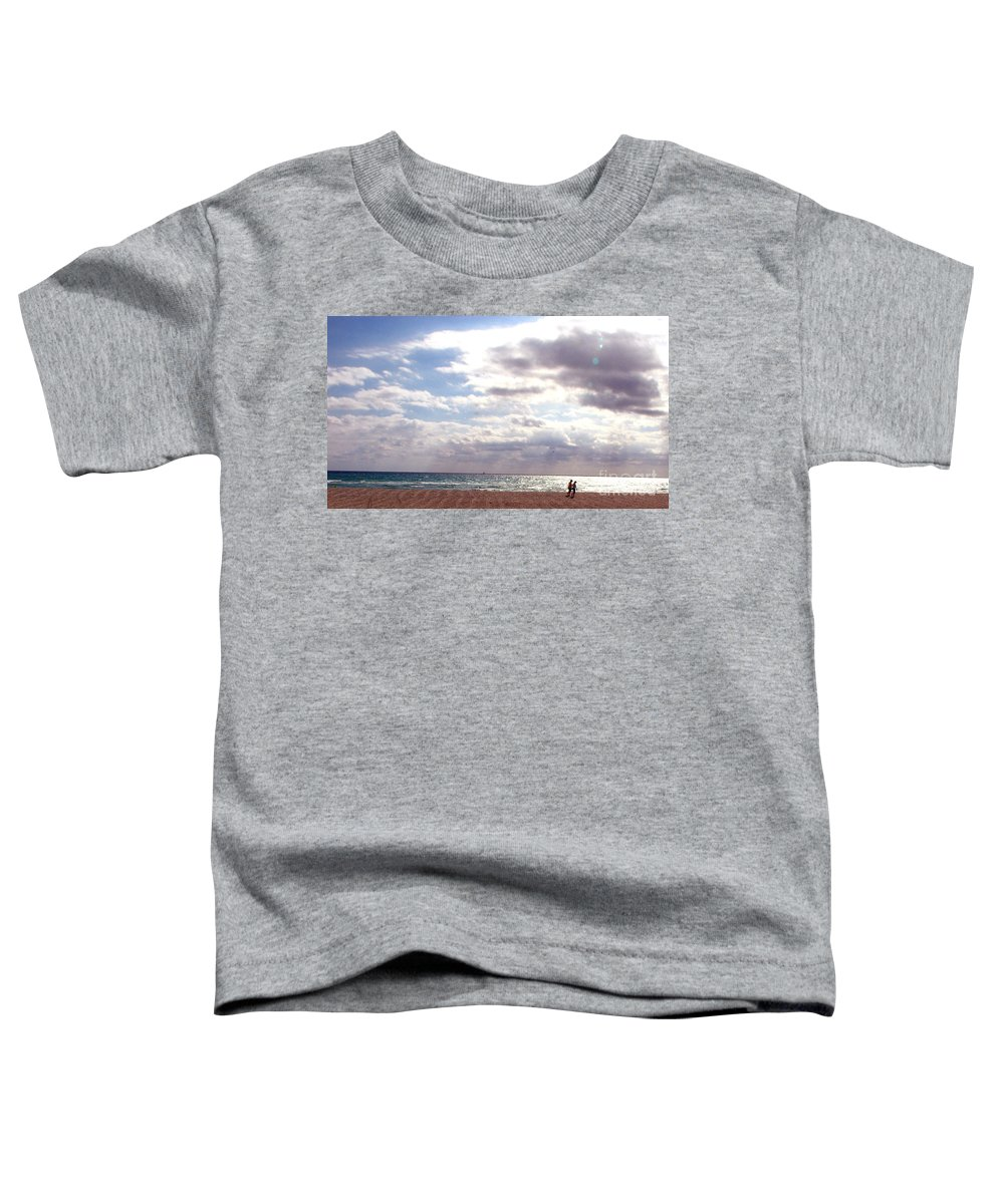 Walking Toddler T-Shirt featuring the photograph Taking A Walk by Amanda Barcon