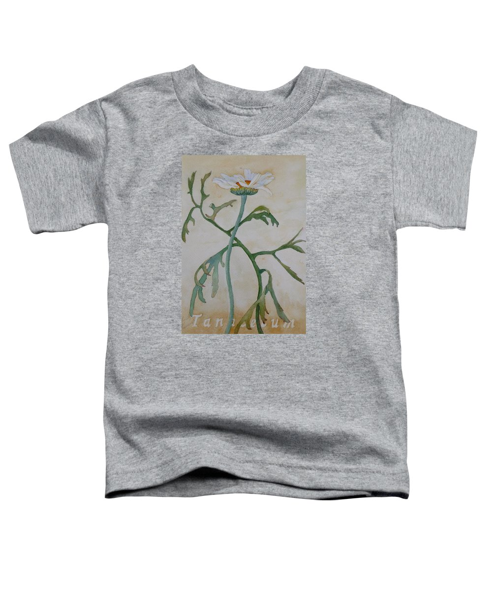 Flower Toddler T-Shirt featuring the painting Tanacetum by Ruth Kamenev