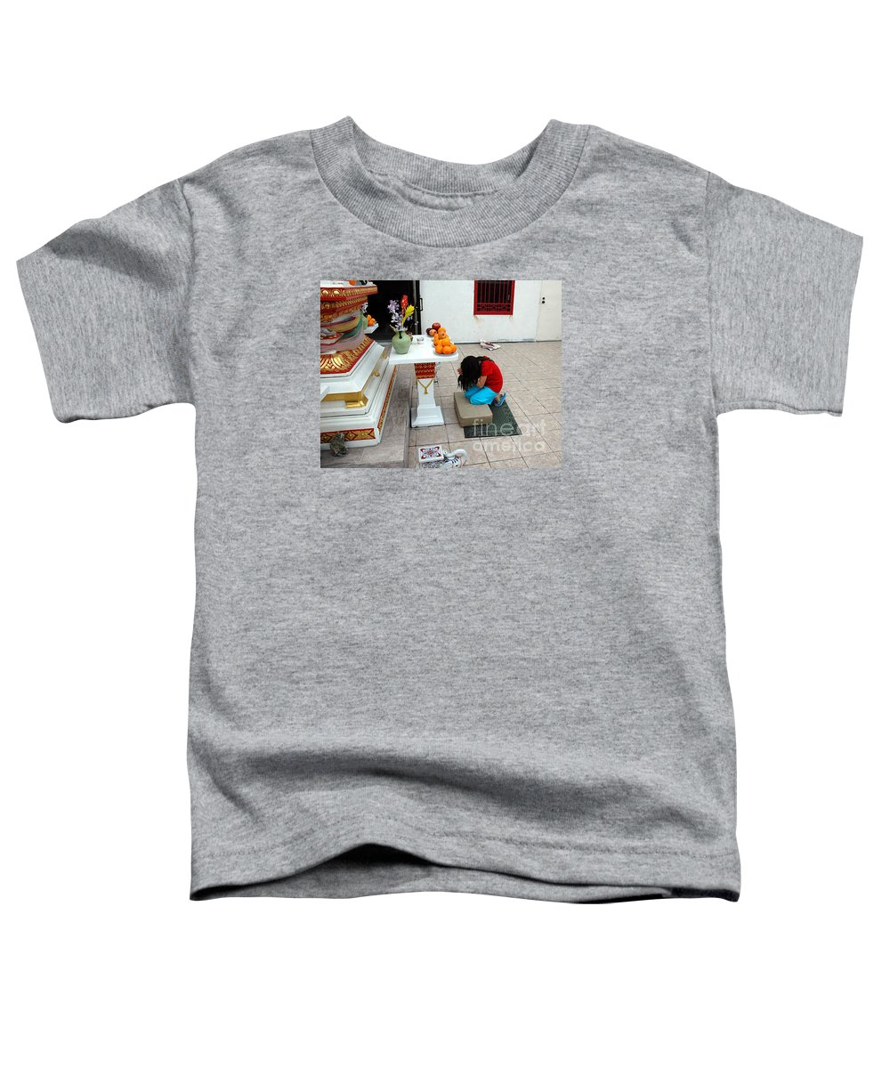 Child Toddler T-Shirt featuring the photograph Temple Prayer by Michael Ziegler