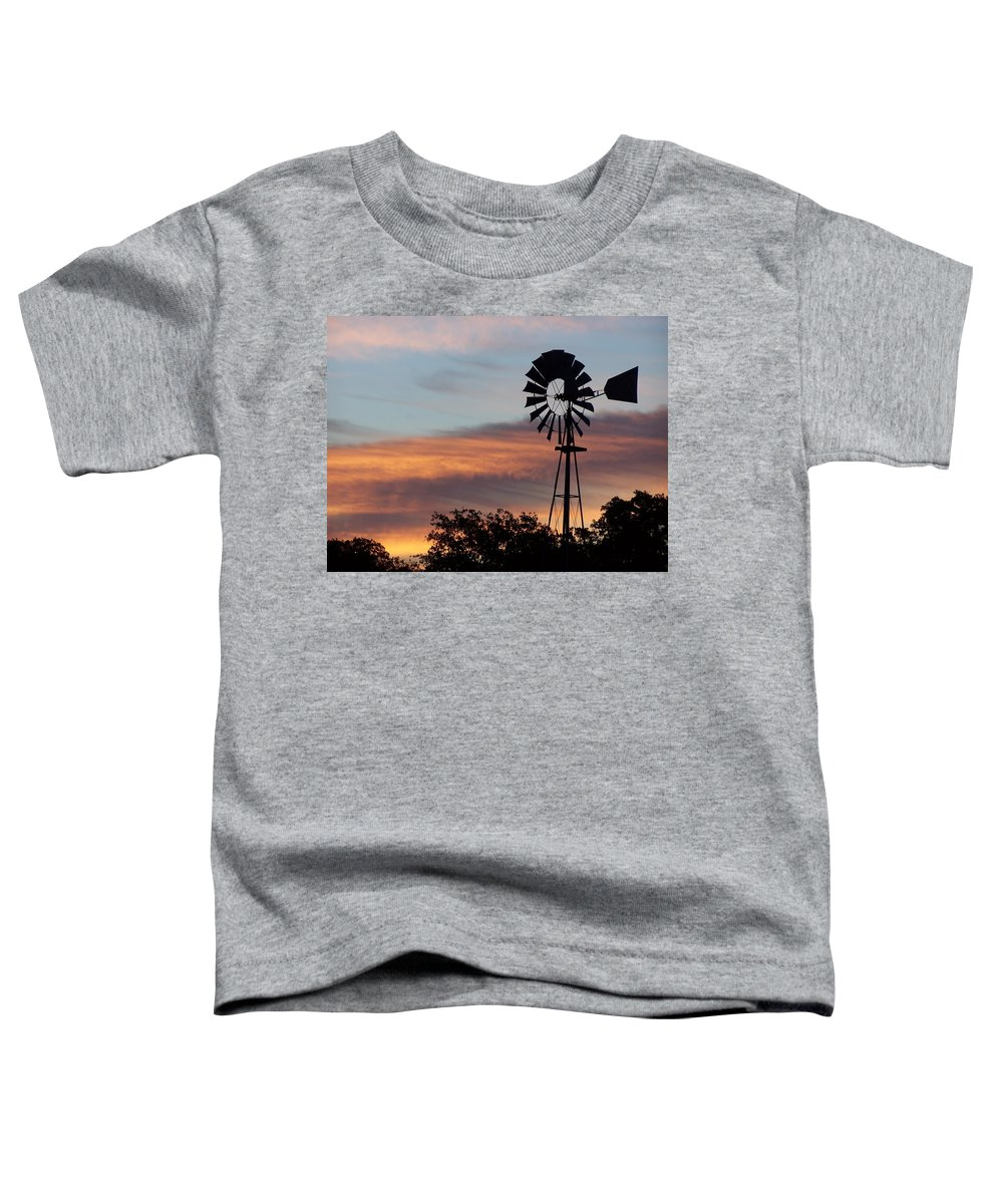 Windmill Toddler T-Shirt featuring the photograph Texas Sunrise by Gale Cochran-Smith