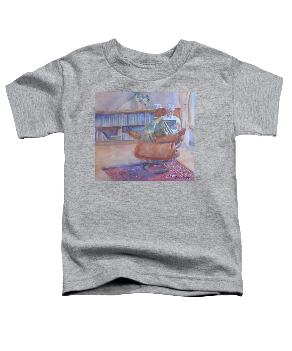 Man Toddler T-Shirt featuring the painting The Civilized Engineer by Jenny Armitage