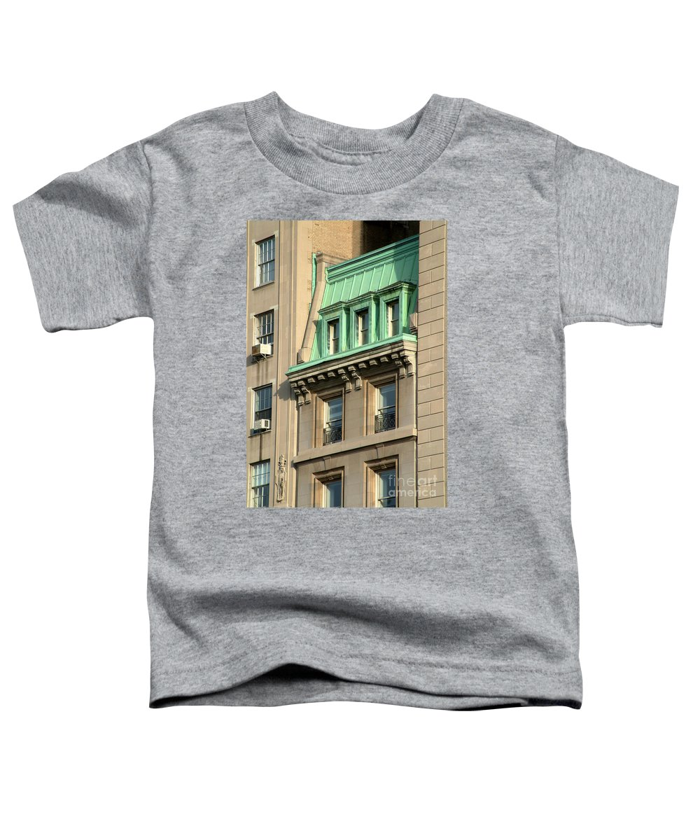 Apartments Toddler T-Shirt featuring the photograph The Copper Attic by RC DeWinter