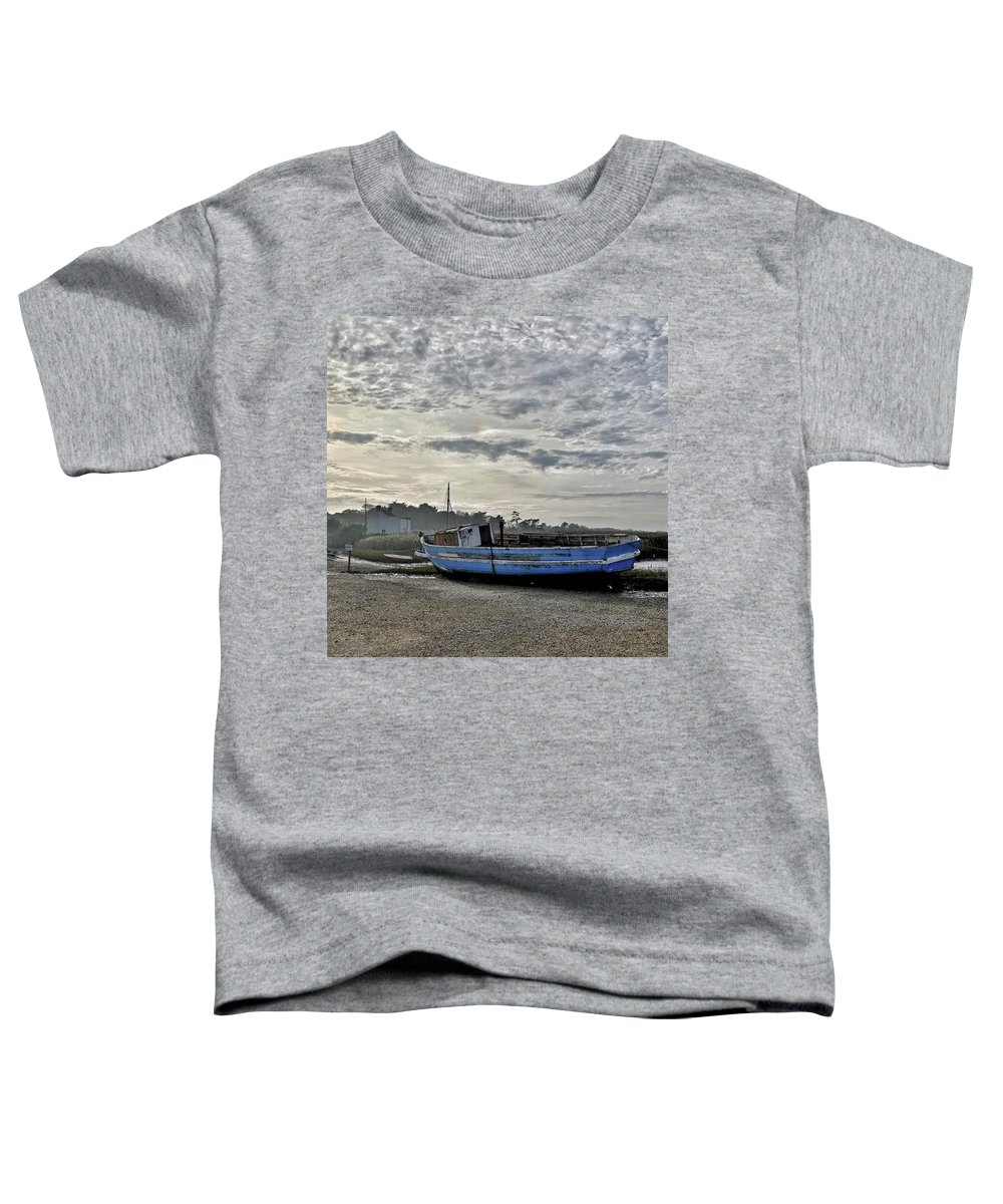 Beautiful Toddler T-Shirt featuring the photograph The Fixer-upper, Brancaster Staithe by John Edwards
