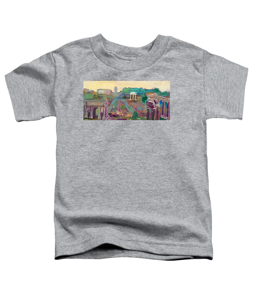 Rome Toddler T-Shirt featuring the painting The Forum Romanum by Kurt Hausmann