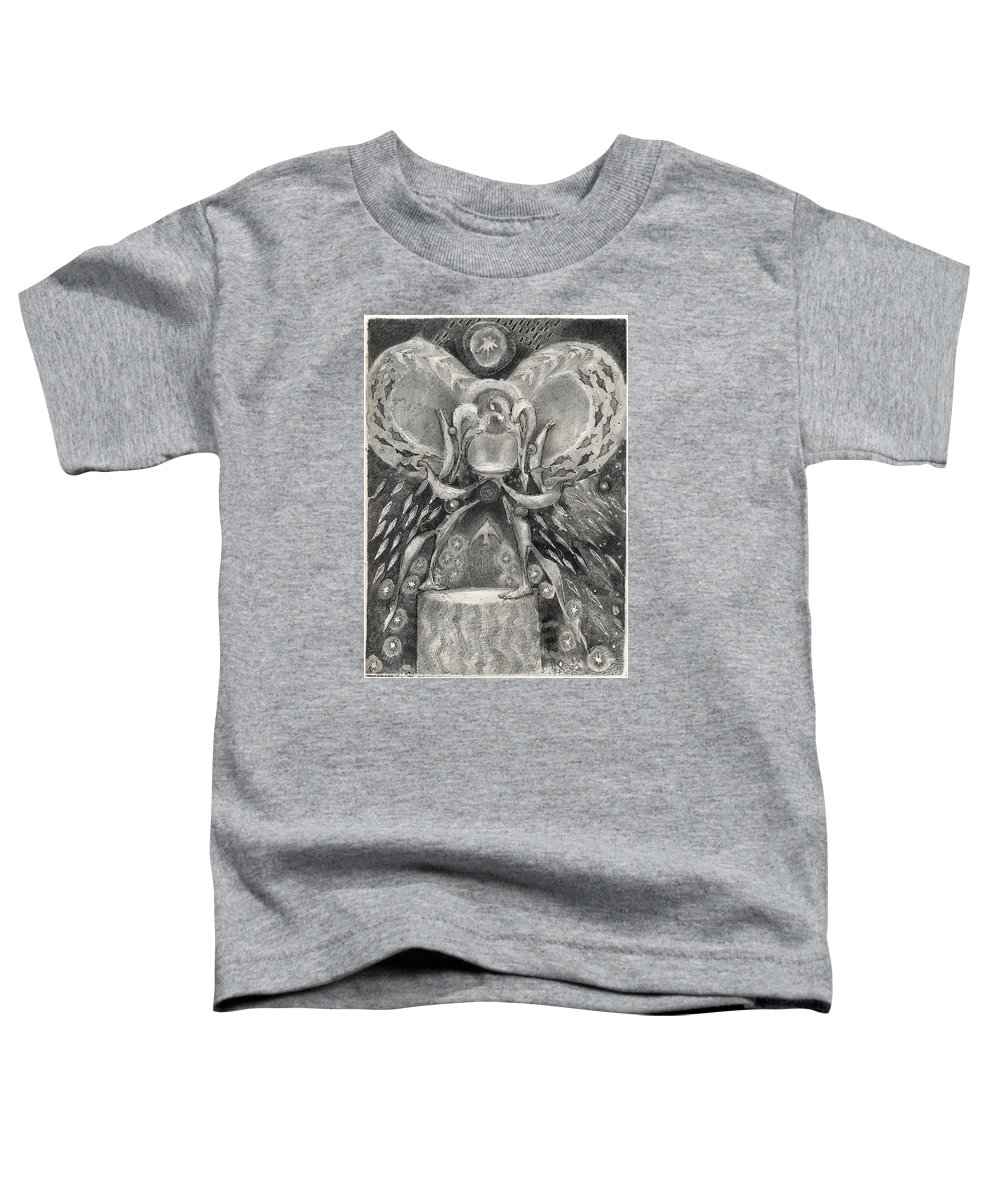 The Gift Toddler T-Shirt featuring the drawing The Gift II by Juel Grant