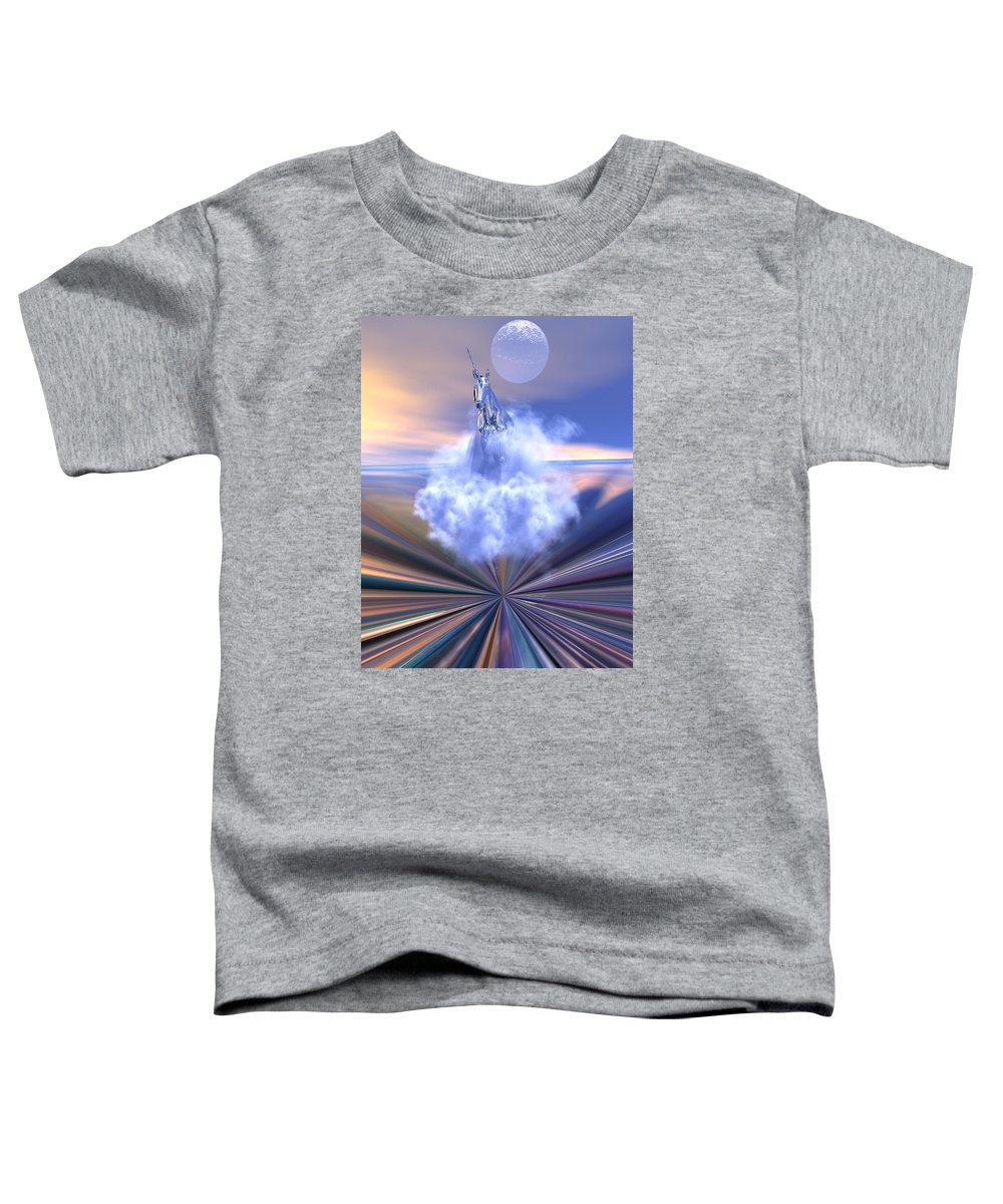 Bryce Toddler T-Shirt featuring the digital art The Last Of The Unicorns by Claude McCoy