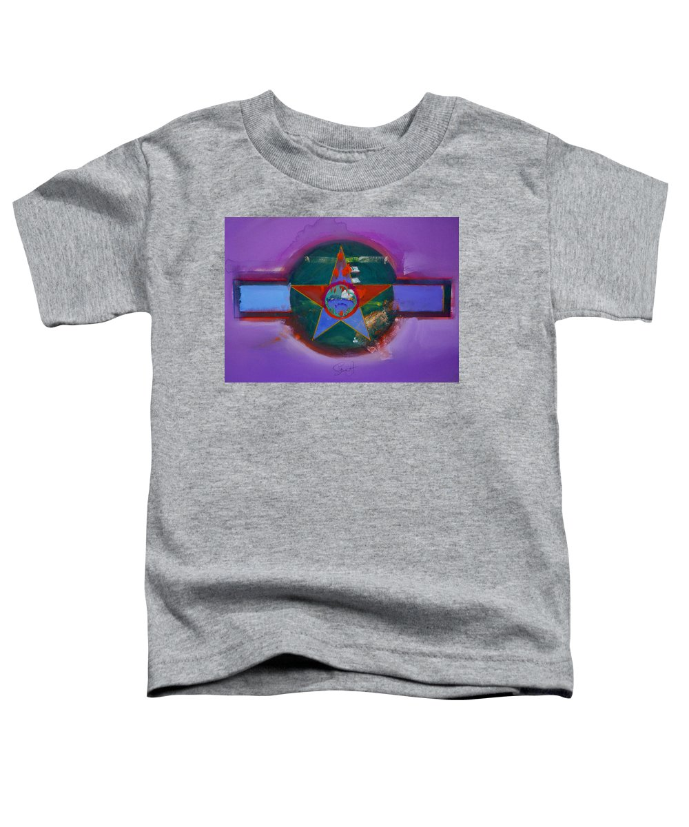 Star Toddler T-Shirt featuring the painting The Lighthouse Keeper by Charles Stuart