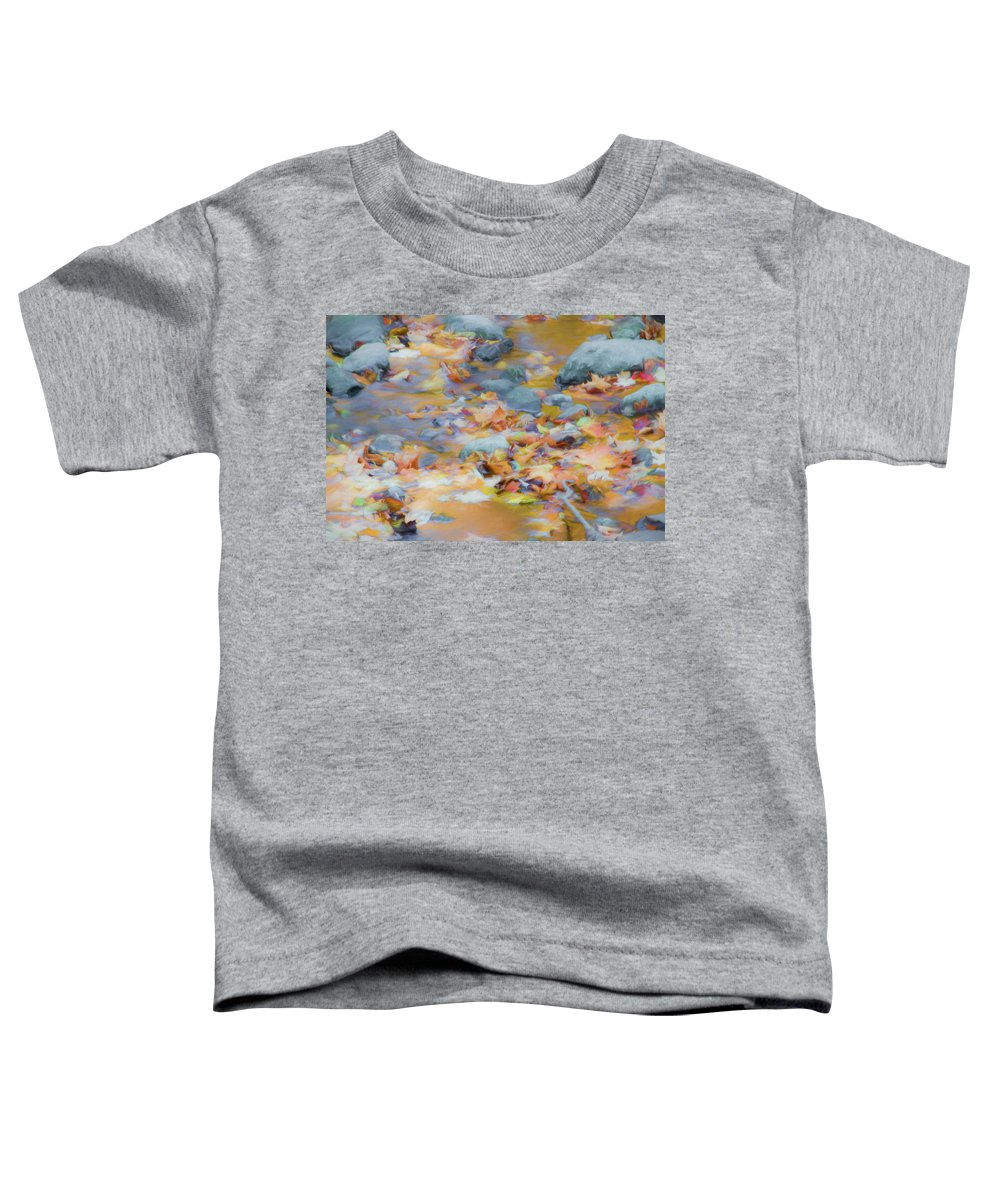 Abstracts Toddler T-Shirt featuring the photograph The Lightness of Autumn by Marilyn Cornwell