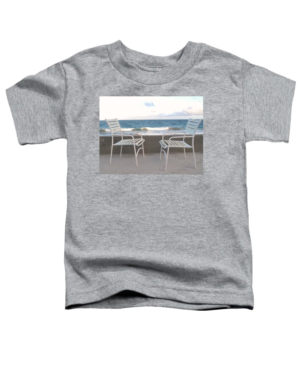 Seascape Toddler T-Shirt featuring the photograph The Meeting by Ian MacDonald