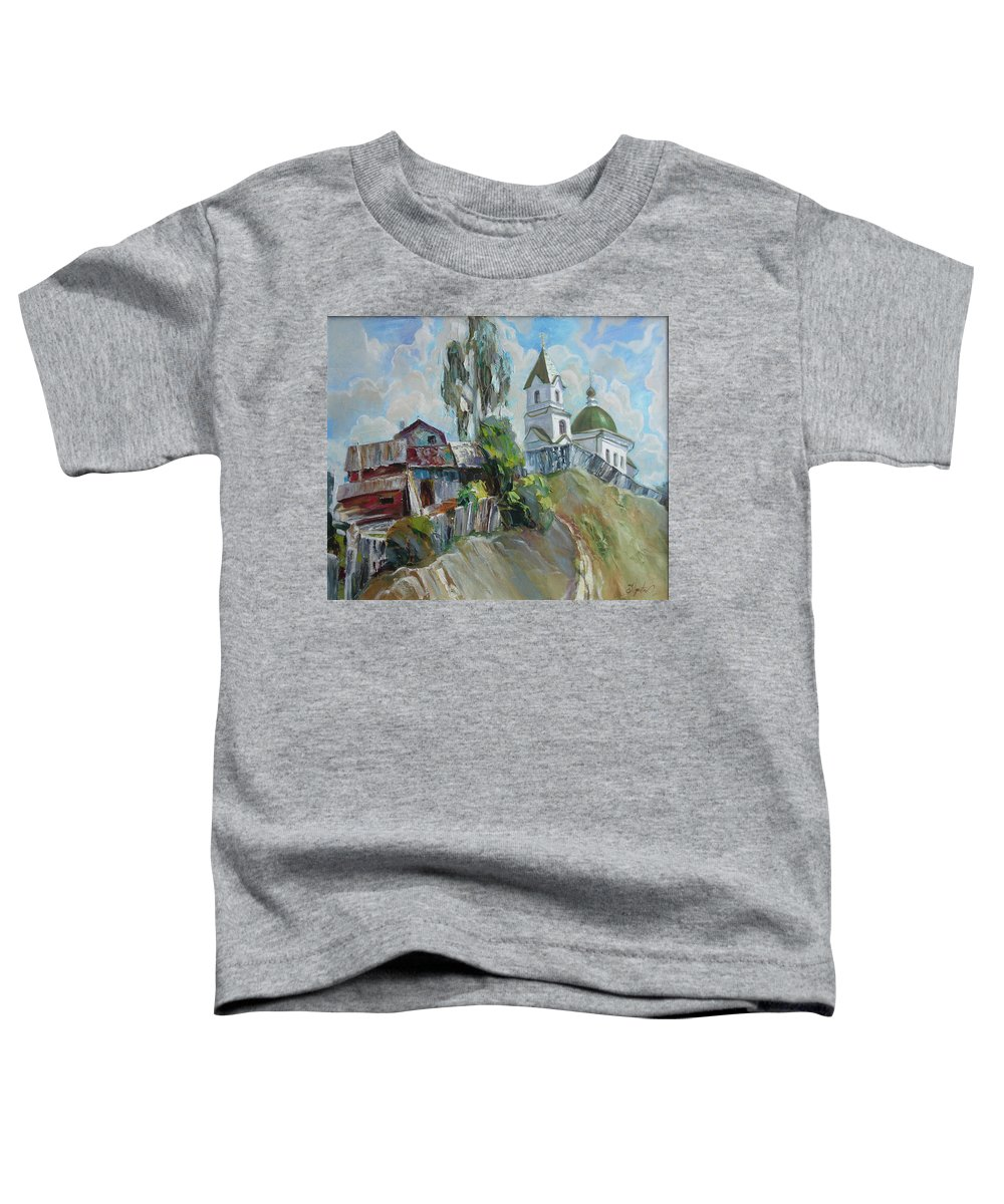 Oil Toddler T-Shirt featuring the painting The Old And New by Sergey Ignatenko
