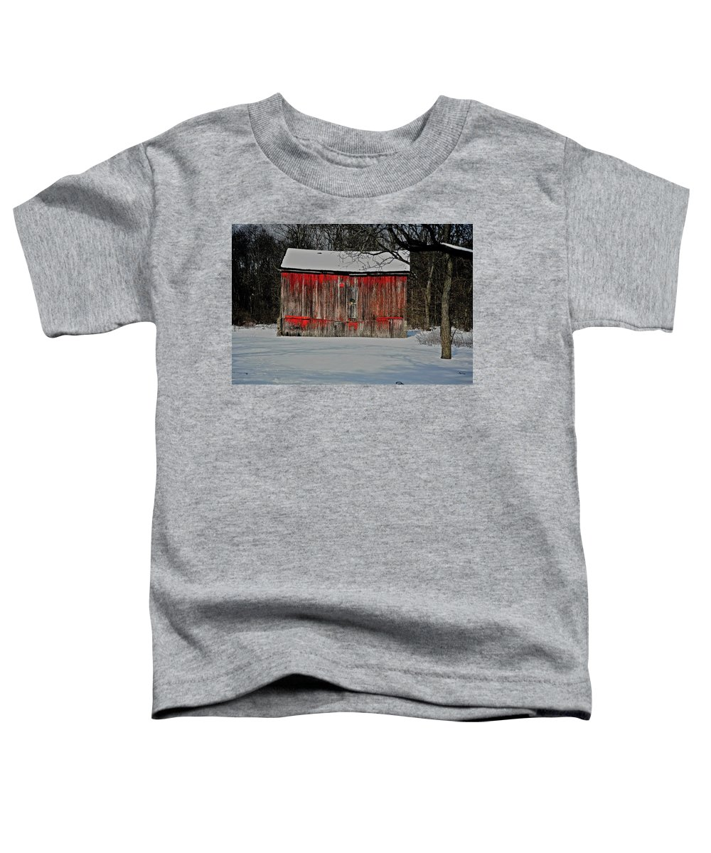 Old Toddler T-Shirt featuring the photograph The Old Weathered Barn by Robert Pearson