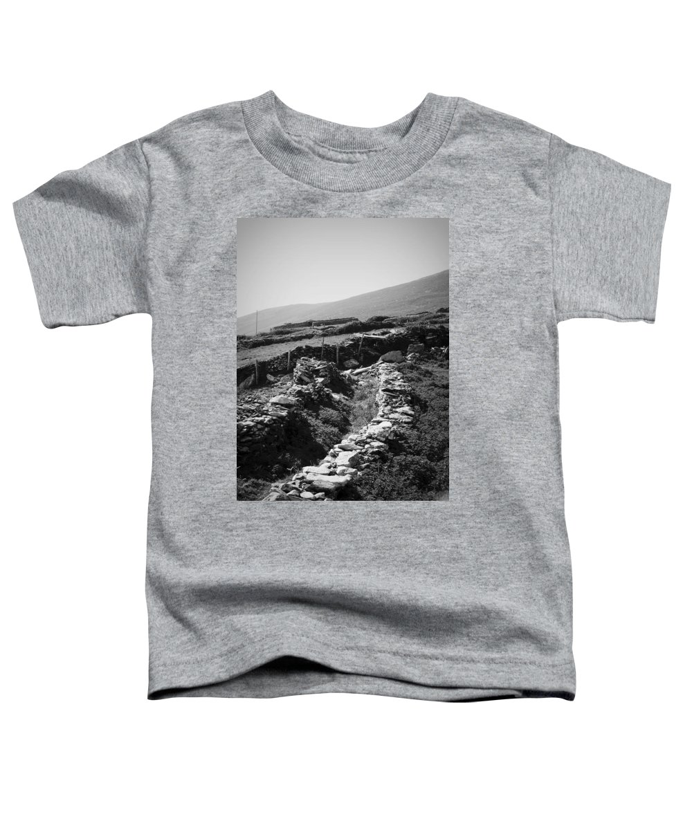 Irish Toddler T-Shirt featuring the photograph The Path To The Beehive Huts In Fahan Ireland by Teresa Mucha