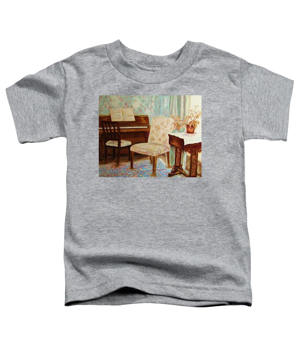 Iimpressionism Toddler T-Shirt featuring the painting The Piano Room by Carole Spandau