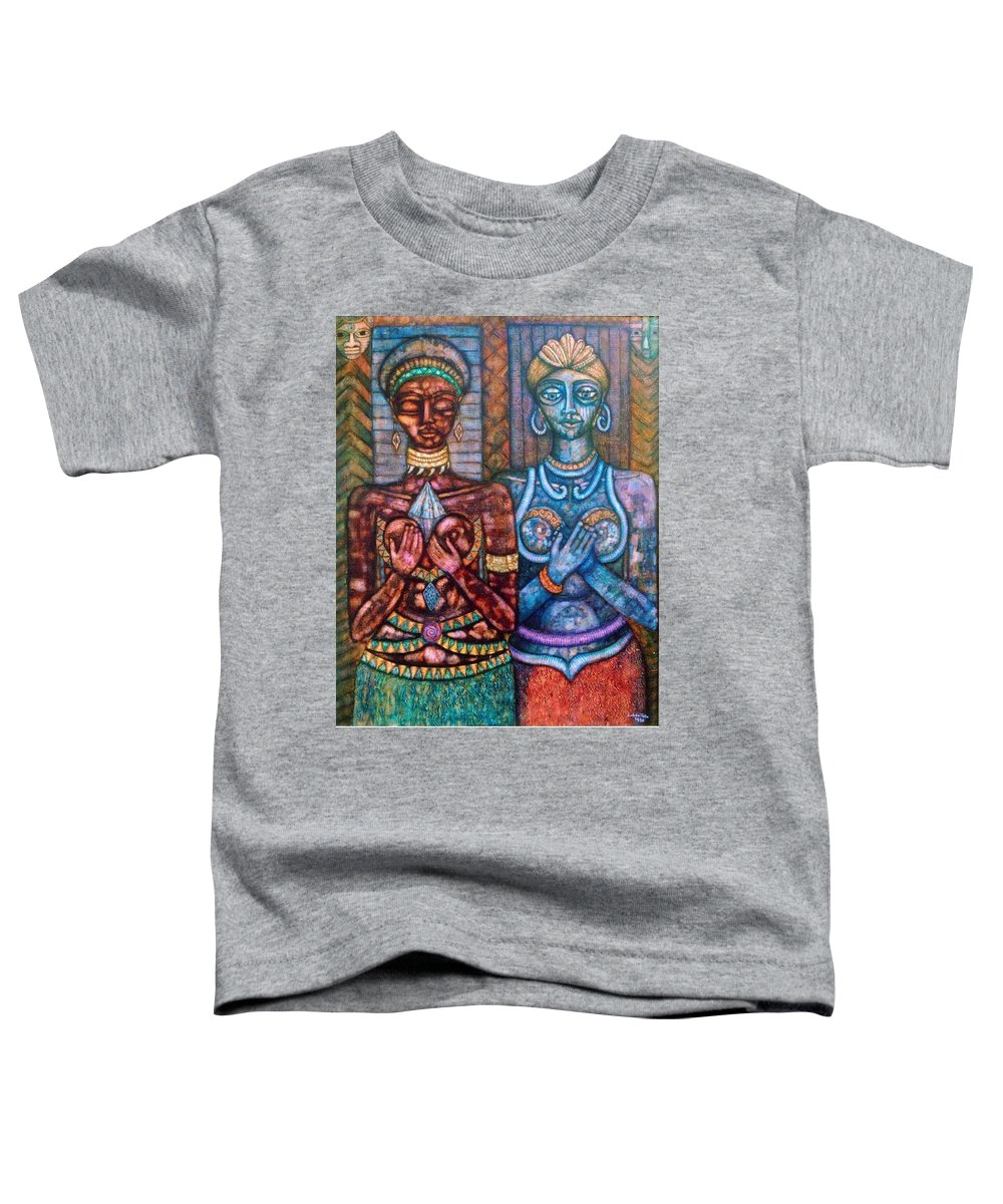 Priestesses Toddler T-Shirt featuring the painting The Priestess Of The Occult by Madalena Lobao-Tello