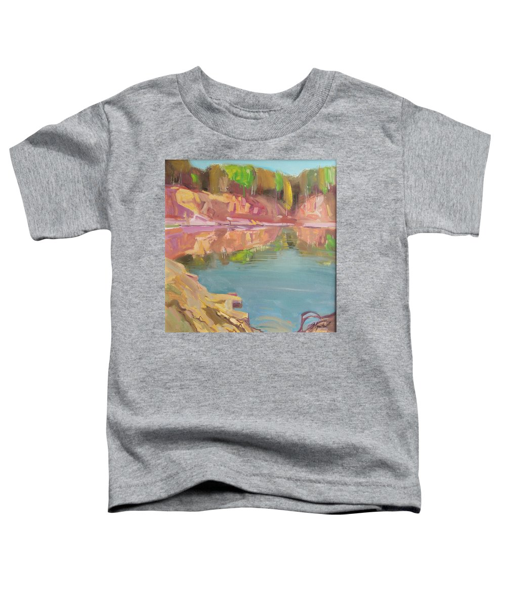 Oil Toddler T-Shirt featuring the painting The Quarry by Sergey Ignatenko