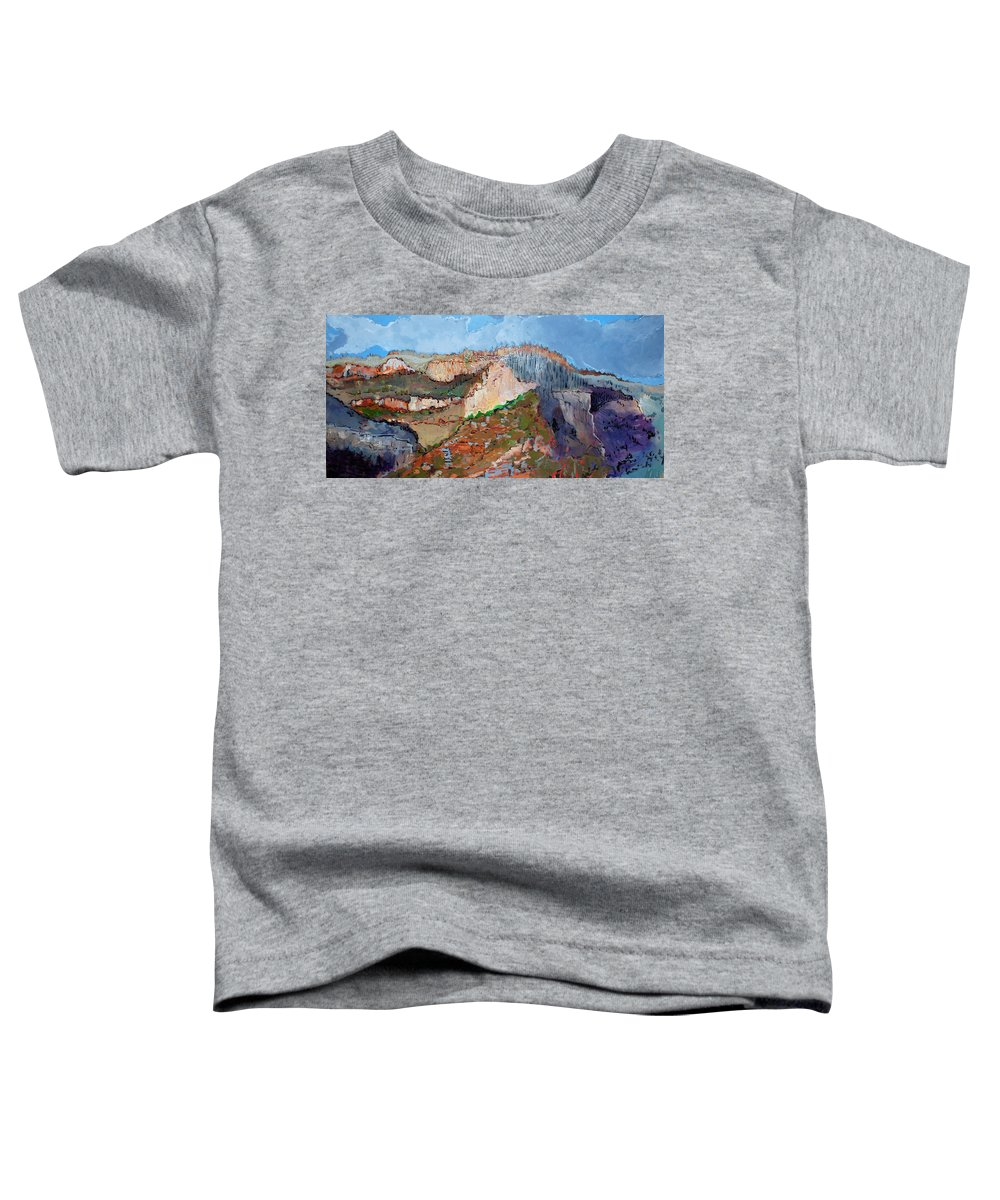 Mountains Toddler T-Shirt featuring the painting The Rockies by Kurt Hausmann